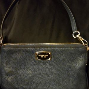 Michael Kors navy wristlet bag